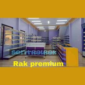 rak gondola ungu kuning baja minimarket swalayan toko murah promo