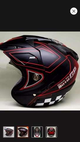 Helm moto gp dobel kaca