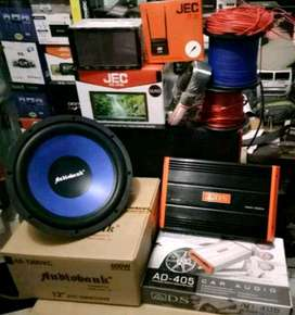 "Plus Pasang, Komplit, Sub + Power + Box + Kabel""+ Dobledin TV + Antena"