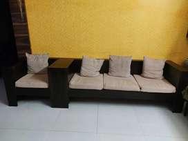 Sheesham wood sofa less than a year 3+2+1
