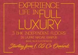 Luxury 3bhk independent floors in Lajpat nagar, Kanpur