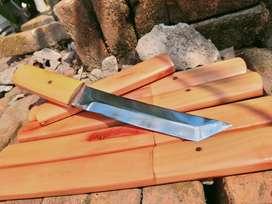 Pisau pedang katana samurai tanto kayu muda pisau seset kelet  skiner