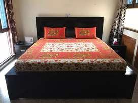 Double Bed and 2 Bed Side Tables
