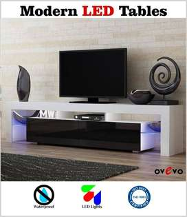 Led table/ lcd rack/ tv console/ media unit/ trolley