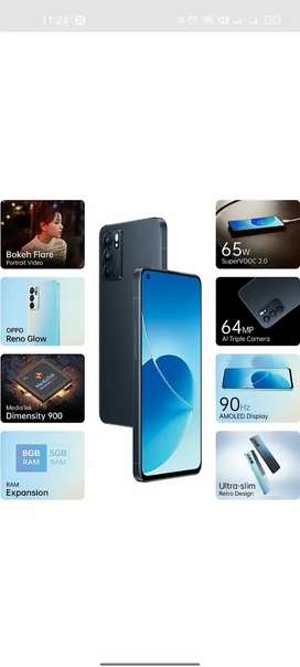 Oppo Reno 6 one month old all accessories available
