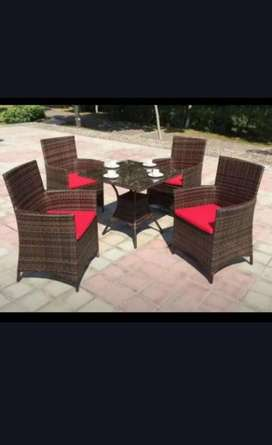 new rattan garden chairs and table set