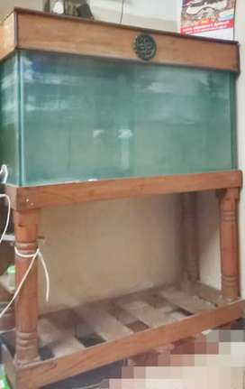 Fish tank for sale with wooden stand and top door