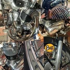 Bullet engine buffing & Body polish wax coating