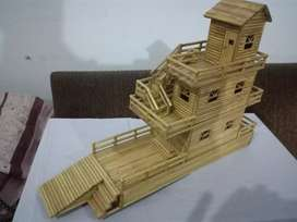 Handmade Bamboo Sticks Model