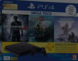 Ps4 1 tb new console 4,5 month old 11 games