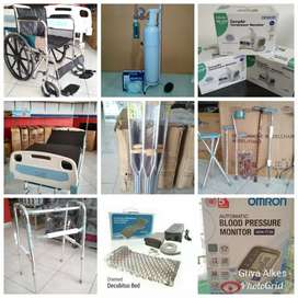 Kursi roda tabung oksigen bed tensi nebulizer tongkat walker infrared