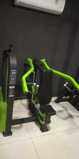 Gym equipments set up available