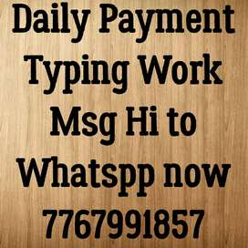 Work from home opportunity in typing work