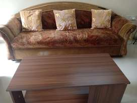 Now or never offer ! 5 seater sofa n center table n cushions