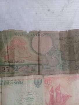 uang kertas pecahan lama