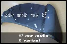 Warna abu metallic SPOILER BELAKANG MOBILIO MODEL RS ready stock mumer