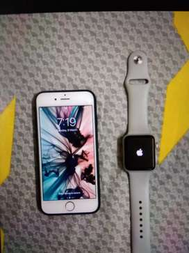 iPhone 6 with Apple watch 3