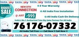 Tata Sky DTH Connection- D2h Videocon Tatasky Dish TV Airteltv - COD