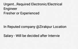 Required Electronic/Electrical Engineer