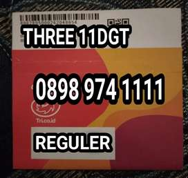 Nomor cantik minimalis spesial edition TRI 11dgt kwartet 1111