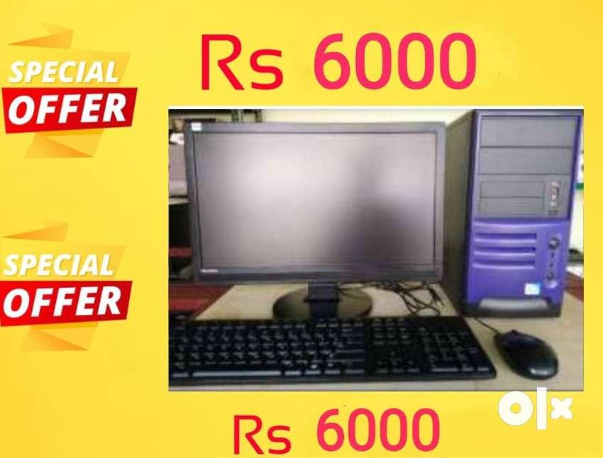 DUAL CORE COMPUTER ( dc/2gb ram/160gb hard disk,15' lcd monitot,  keyb