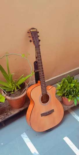 Warners Acoustic Guitar with truss rod (Belt +capo)