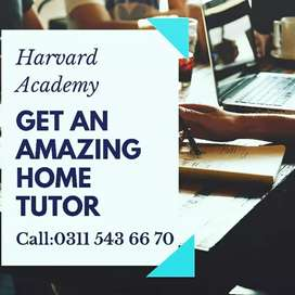 Competent HOME Tutors(Kg to Masters /O & A levels (All Over Rwp)