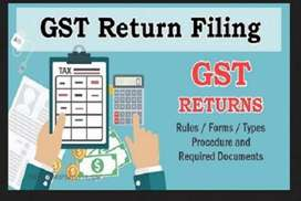 Registration of GST and GST returns filling (100 Rs)