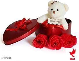 Beautiful Diwali Gift Item Stylish Trendy Gift Box & Teddy Combo