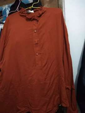 Baju blouse panjang ukuran all size