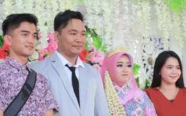 Gaun Pengantin Pre Wedding Sekali pakai blue- pink barbie cerah