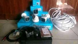 Paket kamera Cctv lengkap dengan pemasangan area Jampang kulon