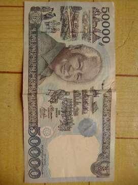 Uang kertas 50rb gambar Soeharto thn 95