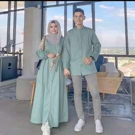 Wardah couple (dress+kemeja)