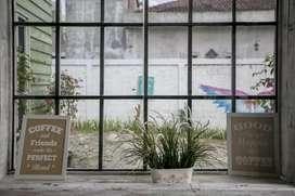 Pintu kaca tempered frameless Jendela kusen alumunium Murah jogja 3