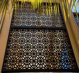 architectural screen panel shade design fence door gate laser wall art