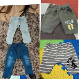 Paket 4 celana utk anak umur 1- 3 thn