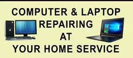 All type desktop and laptop repairing and chief label at home service.