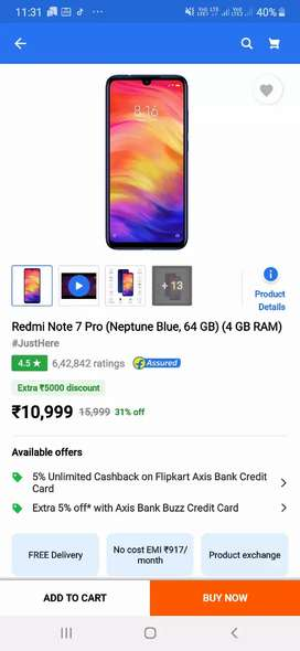 redmi note 7 pro sealed box pack