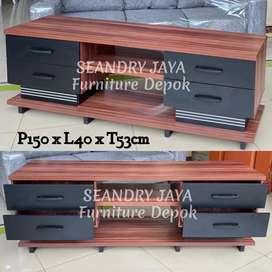 SEANDRY JAYA Furniture Depok/Rak tv minimalis promo murah/meja lemari