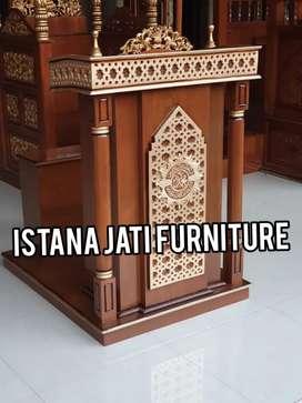Mimbar masjid Free ongkir Mimbar minimalis podium kayu jati