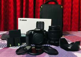 Canon 77d 18-135 IS lens, extra battery, nd filters, bag, memory card
