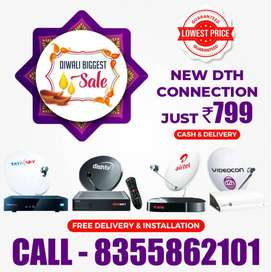 DIWALI SALE TATA SKY DISH TV AIRTEL HD SD CONNECTION 1 day Delivery!!