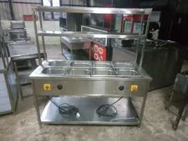 Used kitchen equipment s s water dram with refrigerator fridge extra