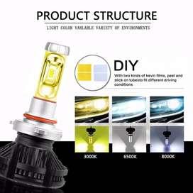 LAMPU LED FOGLAMP MOBIL ZES LED X3 H11/H8/H16 BEST QUALITY ISI 2 PCS