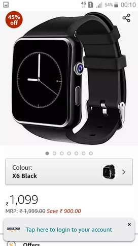 X6 smart watch in white colour