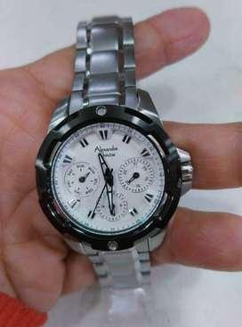 Jam Tangan Wanita Alexandre Christie Ac 6305 White Dial Silver Steel