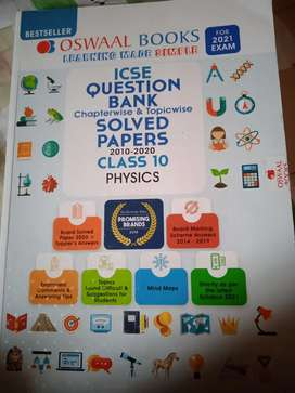 Excellent condition oswaal icse class 10 question bank