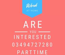 A company in lahore is in search of online workers to work from home.