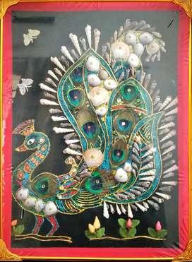 Peacock frame work